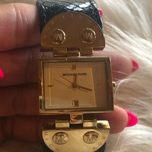 Michael Kors Woman Watch with Snake embossed band